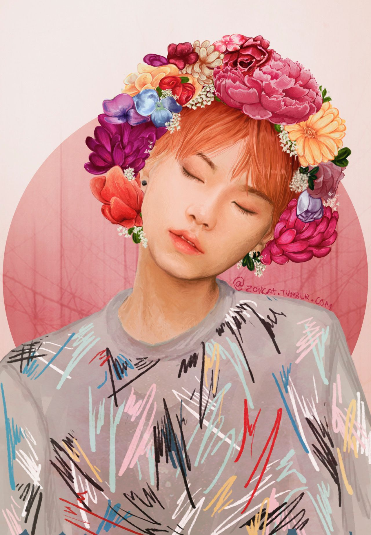 Cute Anime Watercolor Wallpaper Bad Boys Twitter Com Funsizedcat Bts Suga Bangtan Boys Min