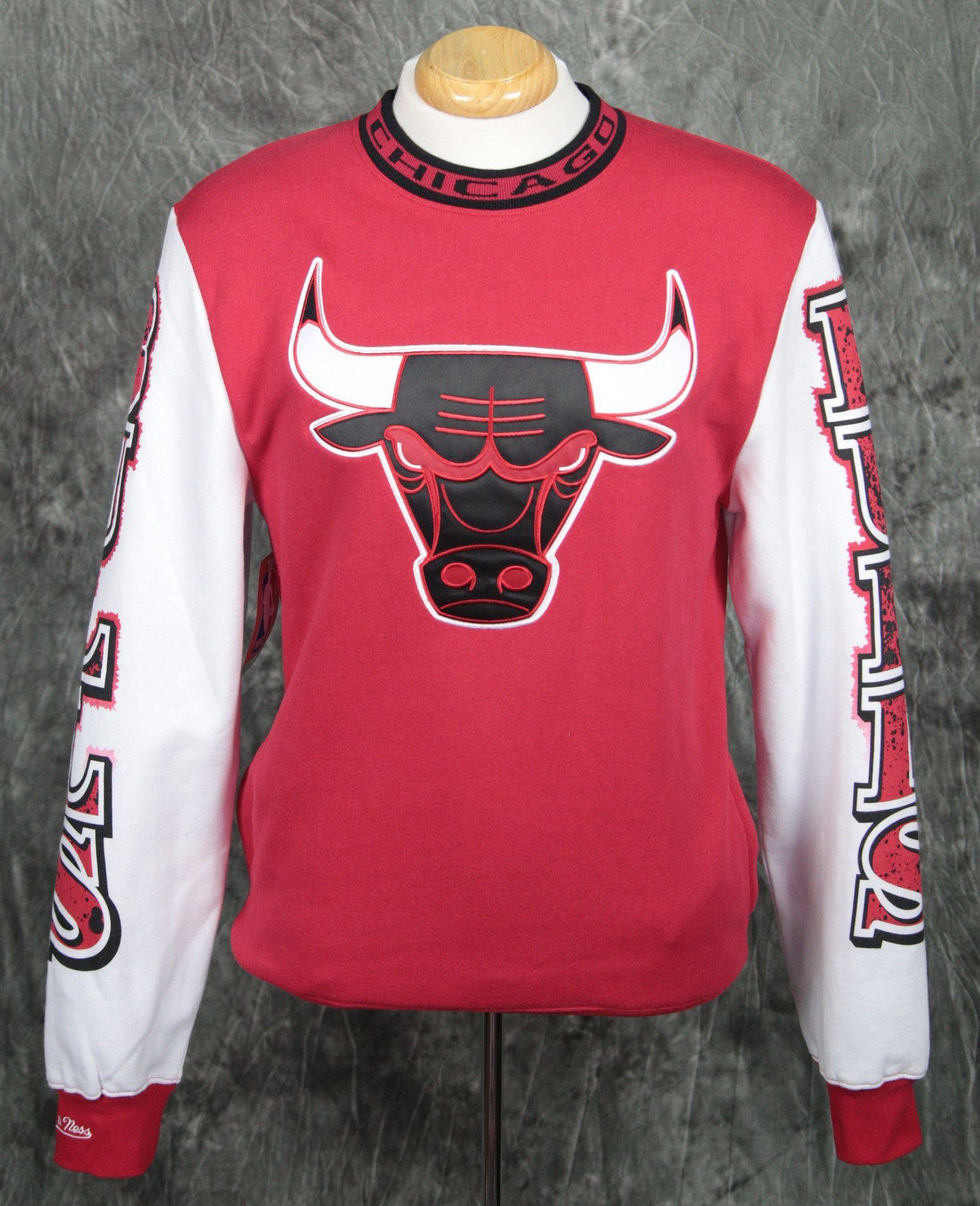 Chicago Bulls Mitchell & Ness Excessive Celebration Sweatshirt