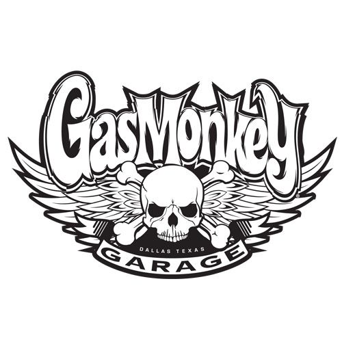 White skull sticker gas monkey garage