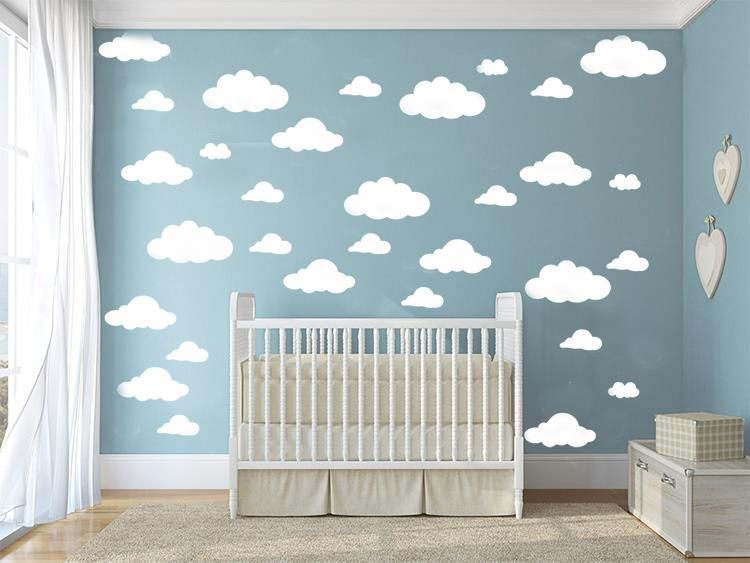31pcs/set DIY Big Clouds 4 10 inch Wall Sticker Removable Wall