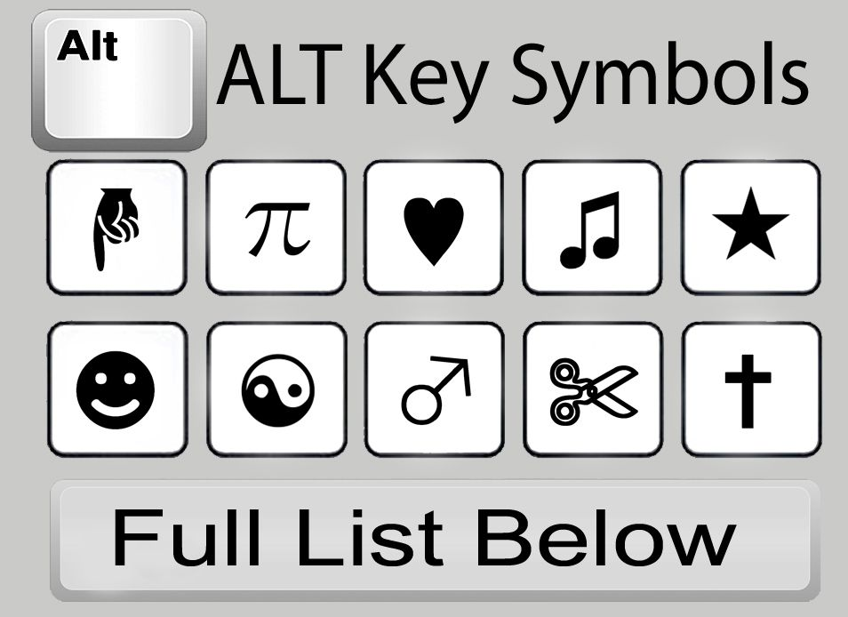 alt key symbols computer pinterest d233tachants