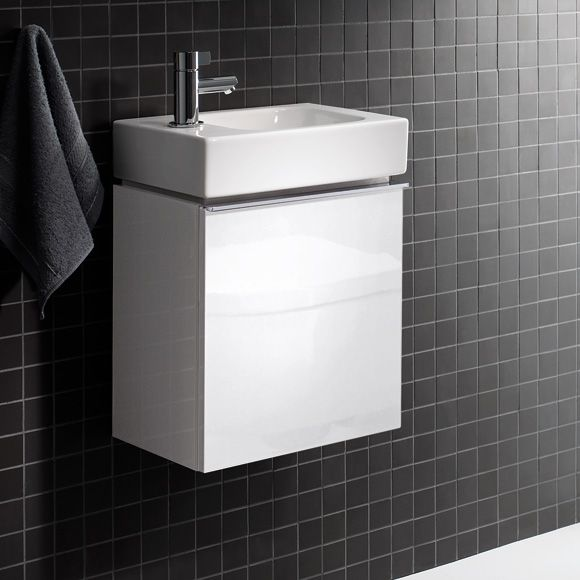 keramag icon xs handwaschbecken unterschrank front und korpus alpin 37 42 28 hochglanz oder. Black Bedroom Furniture Sets. Home Design Ideas