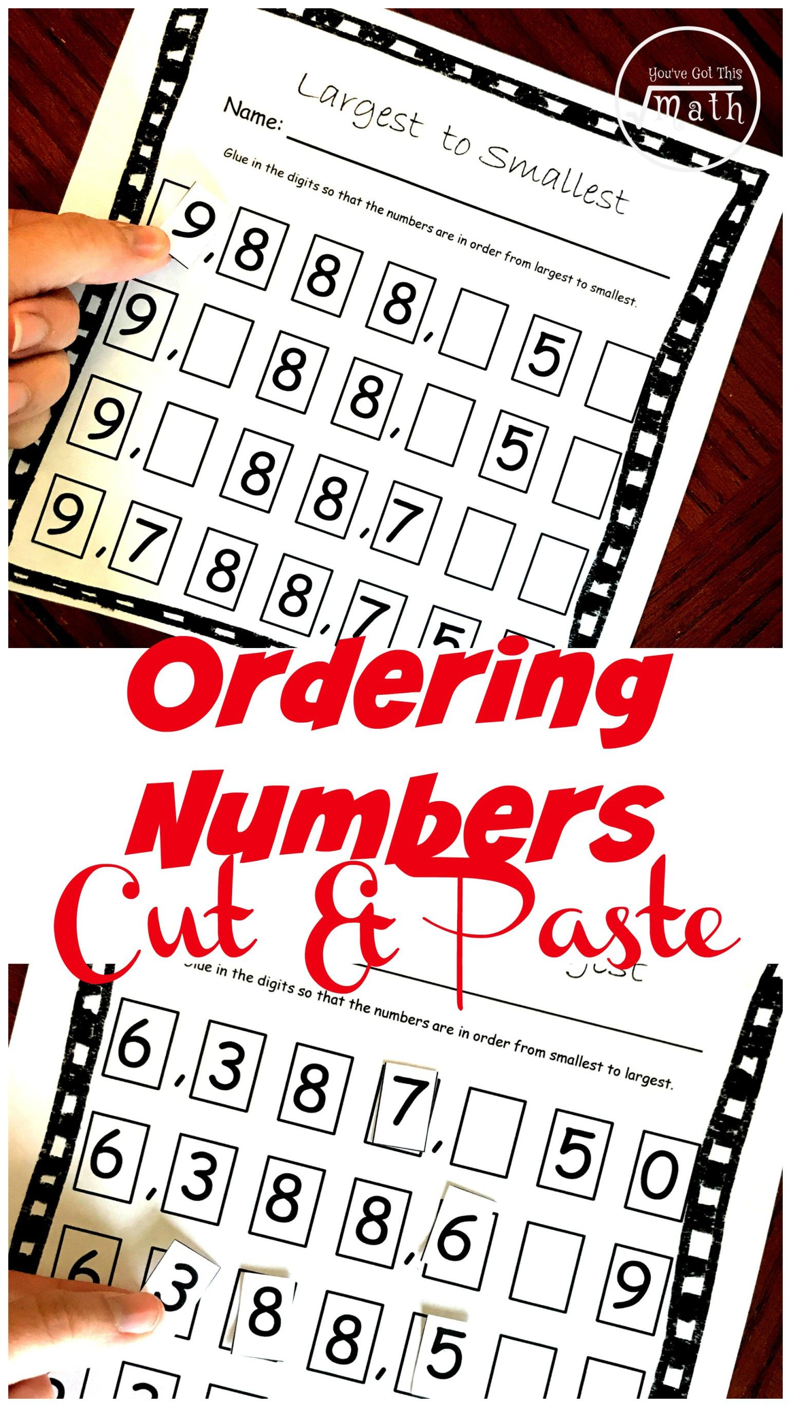 FREE Ascending and Descending Order Worksheets For Large Numbers   Ordering  numbers activities [ 2738 x 1540 Pixel ]