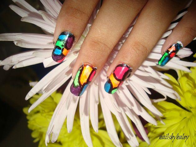 colourful by nailsbyhaley - Nail Art Gallery nailartgallery.nailsmag.com by Nails Magazine www.nailsmag.com #nailart