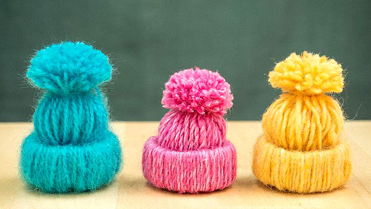 Create Adorable Little Yarn Hat Ornaments Crafts I Think