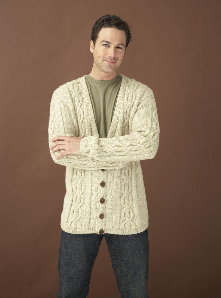Top 5 Free Aran Jumper Knitting Patterns for Men | knitting and ...