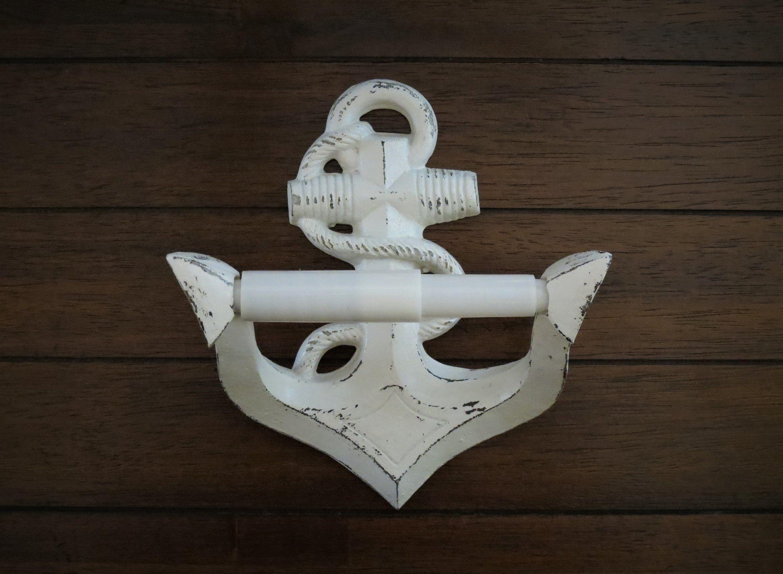 Anchor Toilet Paper Holder Anchor Shaped Tissue Hanger Antique White Or Pick Color Nautical B Beach Wall Decor Bathroom Wall Decor Best Bathroom Flooring