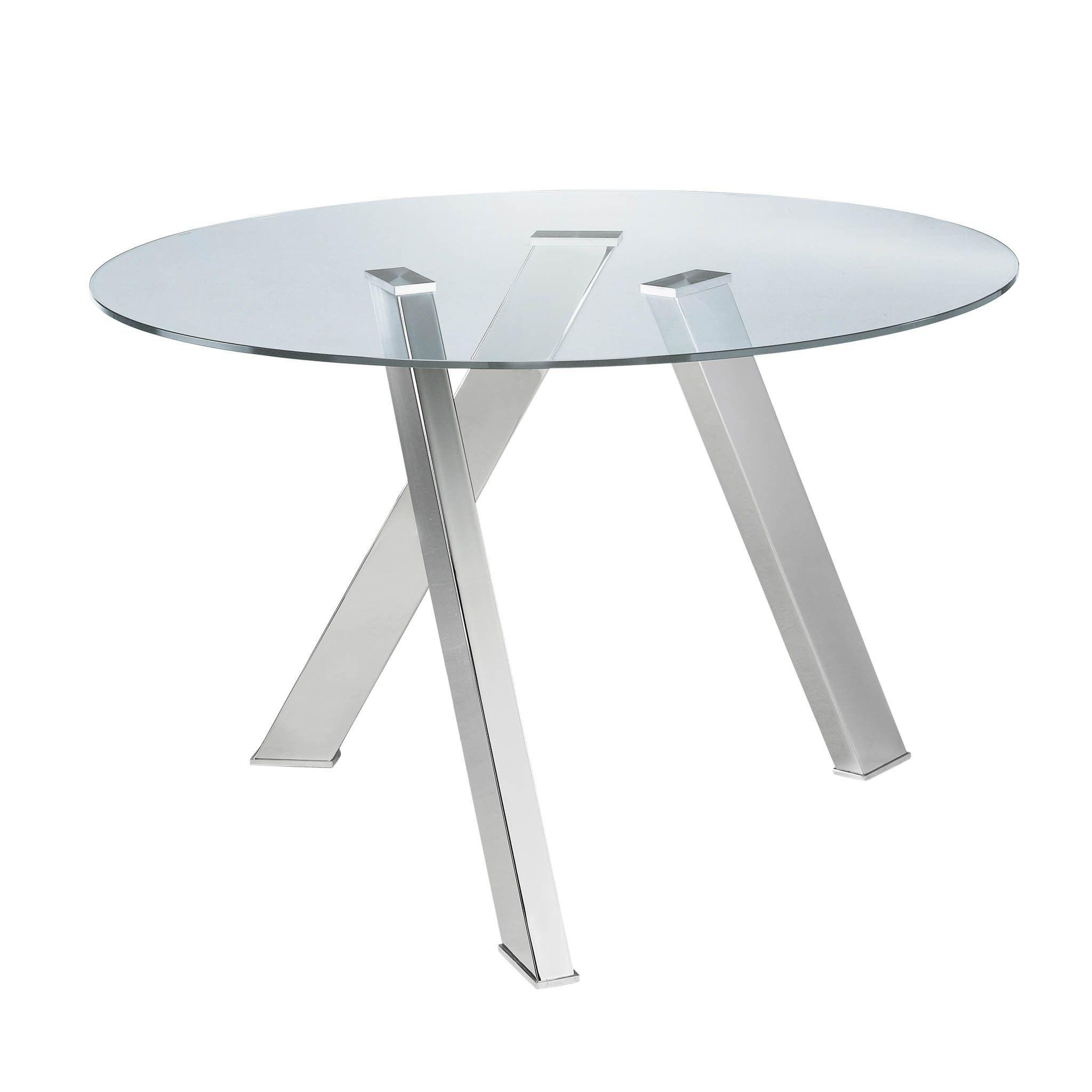 sunpan ikon manhattan round dining table by sunpan round