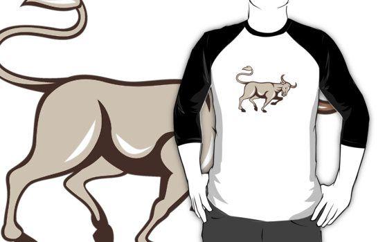 Bull Charging Side Cartoon by patrimonio