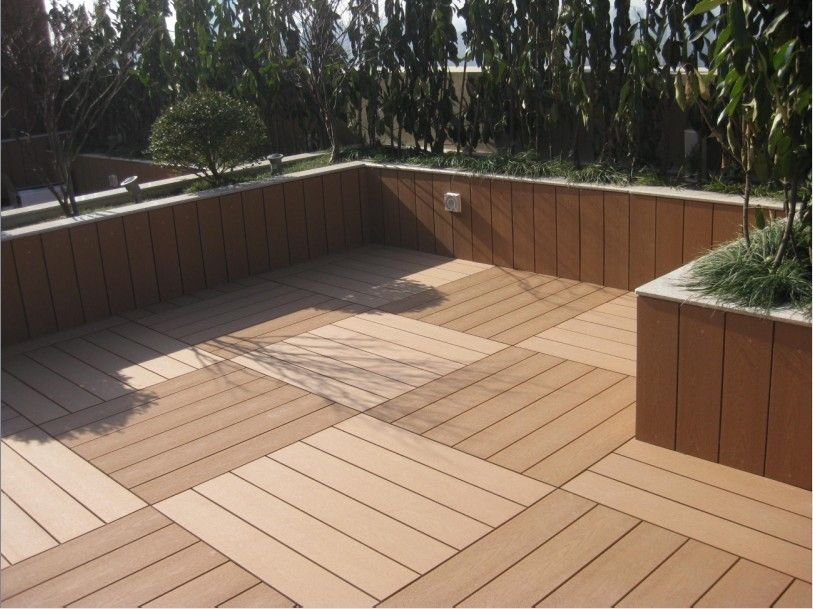 Composite Deck Flooring Is Flexible For Design And Appearance