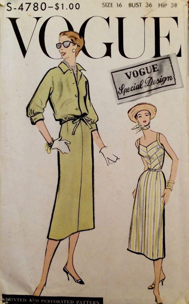 1950\'s Vintage Vogue Special Design Sundress Drawstring Jacket ...