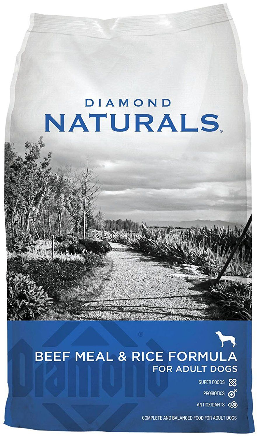 Diamond naturals dry food for adult dog beef
