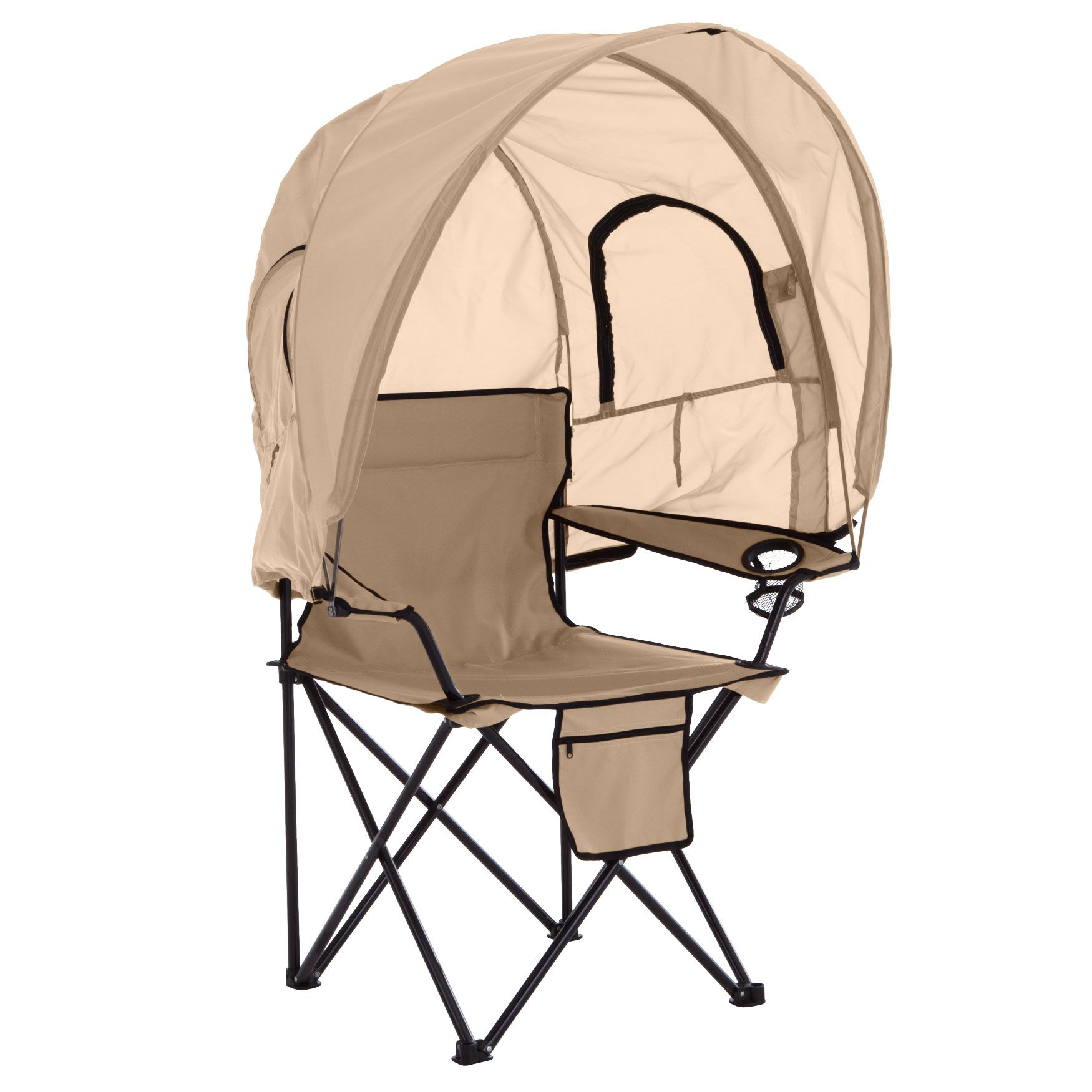 Camp Chair With Canopy Plus Size Beach Chairs Brylane Home