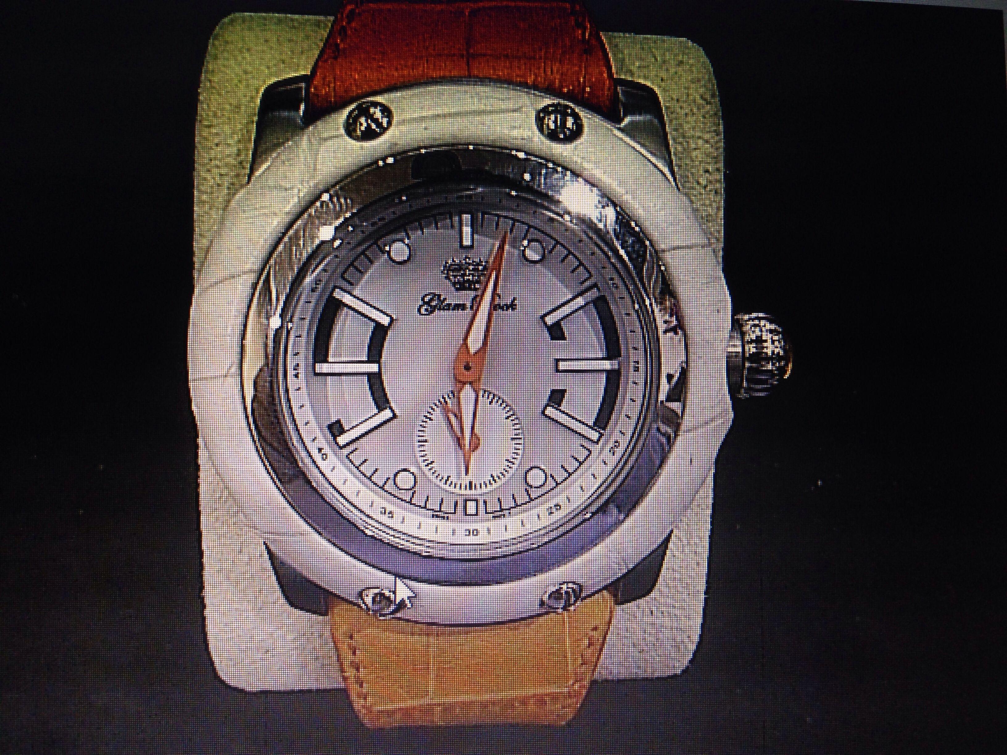Glam rock basic with orange bracelet and white dial quartz