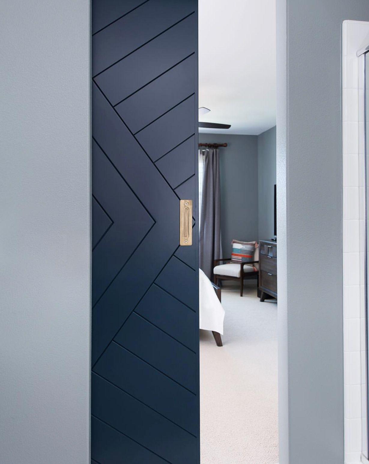 This Is A Barn Door That Looks Like A Pocket Door Beautiful Either Way Barn Style Sliding Doors Barn Doors Sliding Bedroom Doors