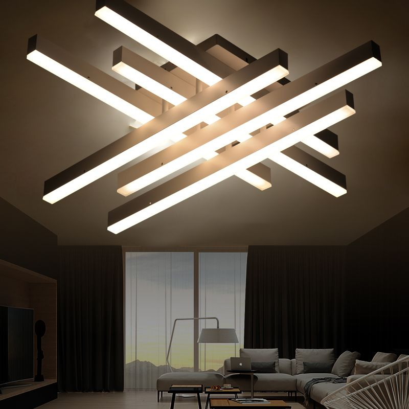Modern Led Ceiling Lights With Remote Control Nordic Home Decor White Black Hanging Ceiling Lamps Modern Led Ceiling Lights Ceiling Light Design Ceiling Lights