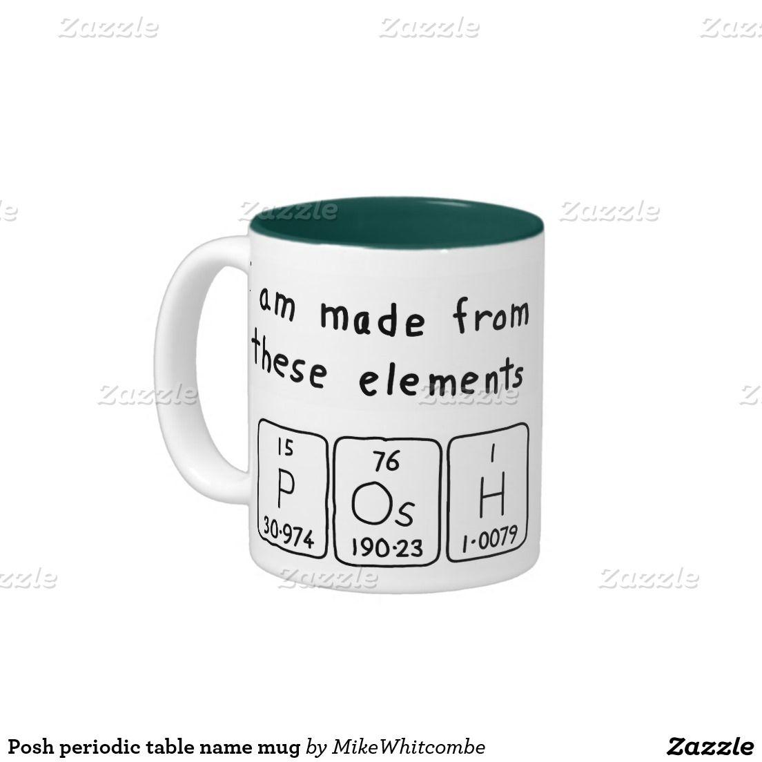 Posh periodic table name mug periodic table posh periodic table name mug urtaz Choice Image