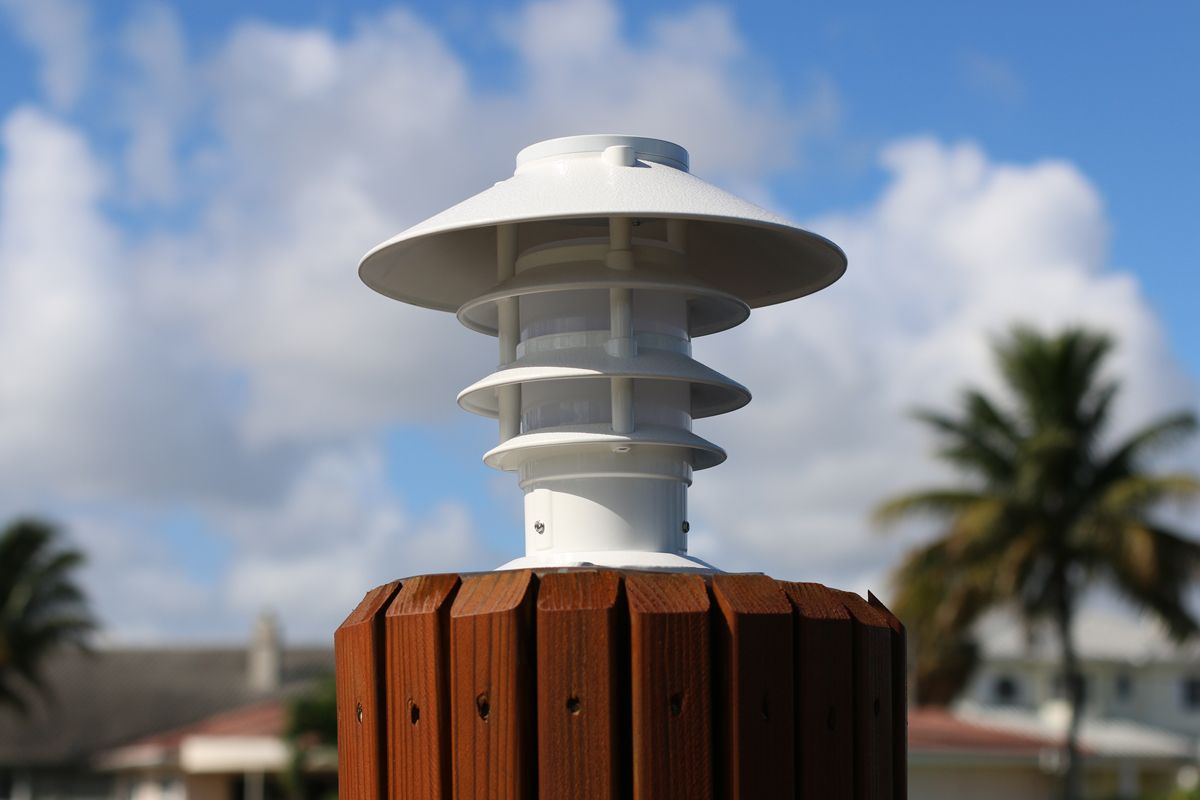 Forte Marine Supply - Solar Pagoda Piling Light, $189.75 (http://fortemarinesupply.com/solar-pagoda-piling-light-free-shipping/)