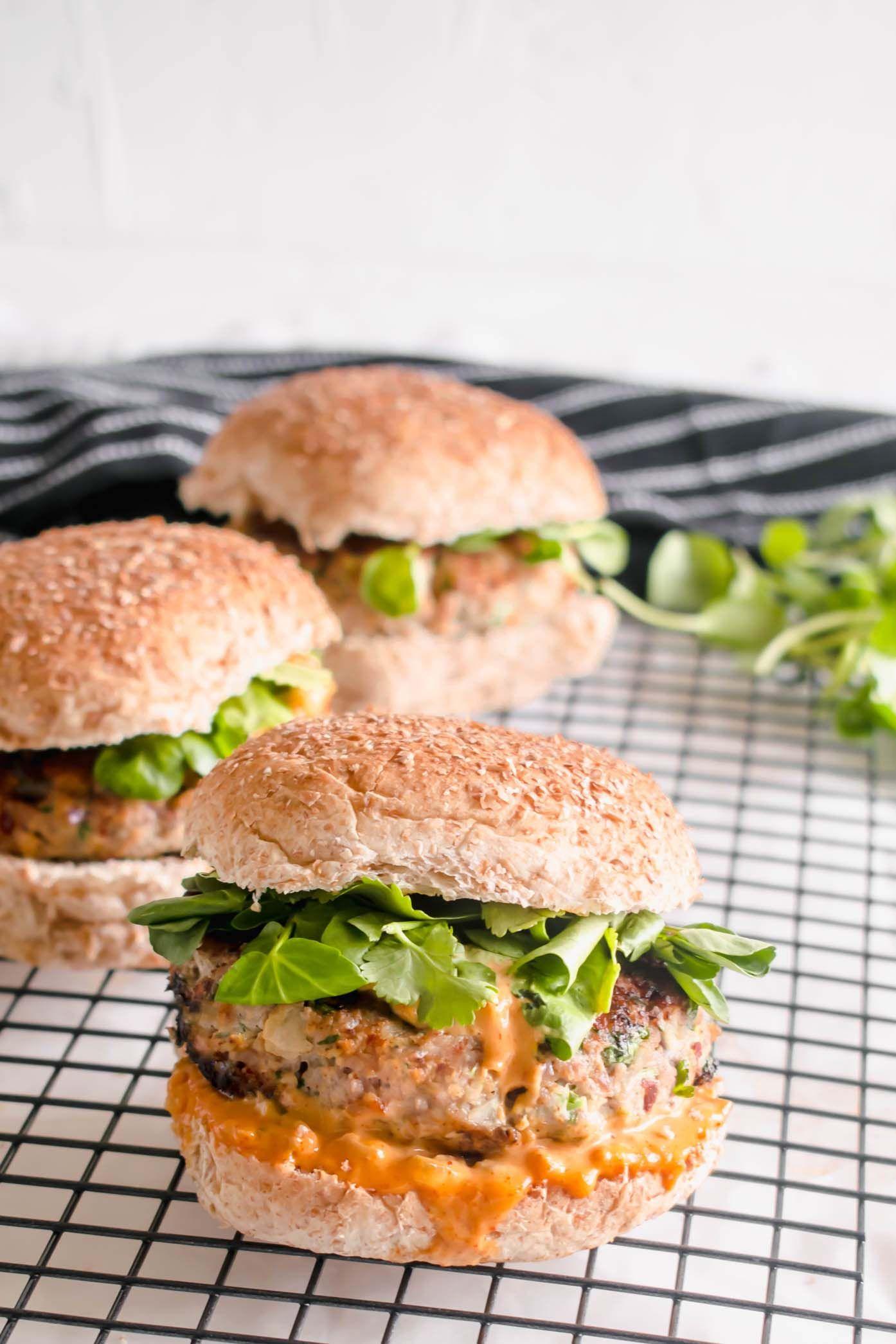 Healthy Turkey Burgers | Recipe | Turkey burger recipes ...