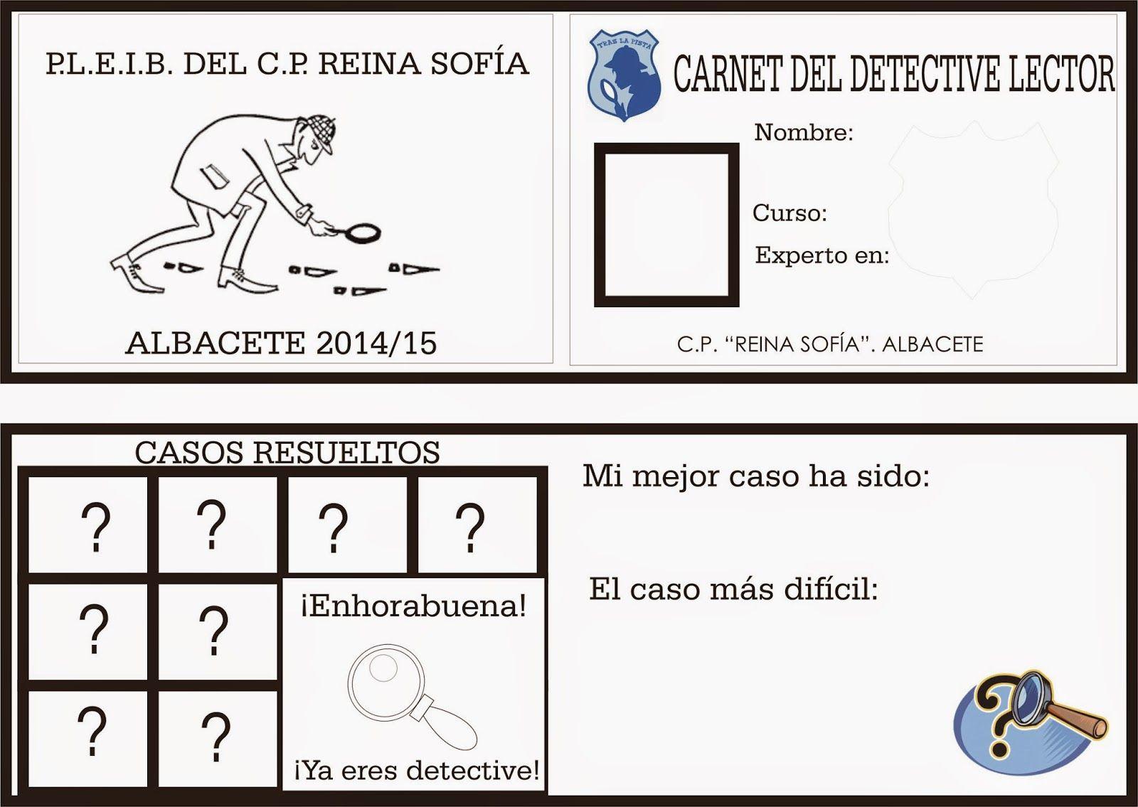 TE CUENTO: Carnet de Detective lector.   Detectives y misterios en ...