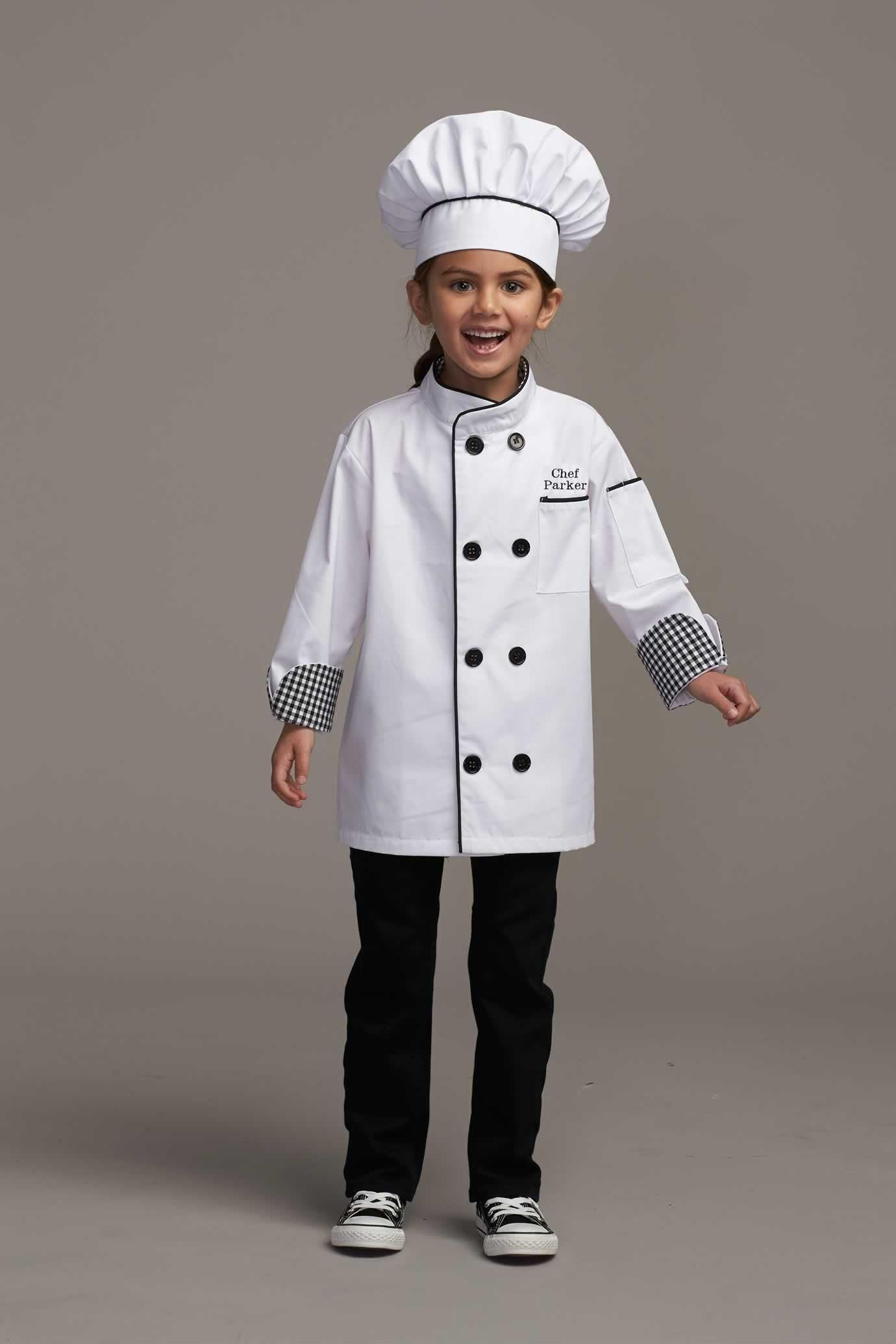 Personalized Chef Costume For Kids Chasing Fireflies Halloween