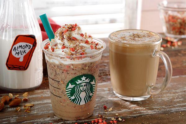 スターバックスより カラダにやさしい気分で楽しめる アーモンド ミルク のビバレッジが登場 News Clip アーモンドミルク フラプチーノ スターバックスコーヒー