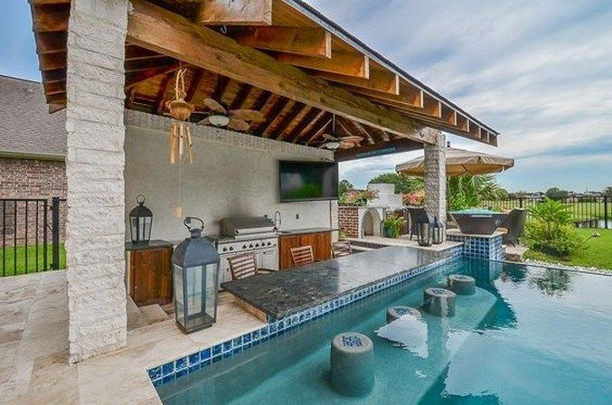 29 Summer Pool Bar Ideas To Impress Your Guests Must See Pools Backyard Inground Swimming Pools Backyard Pool Houses