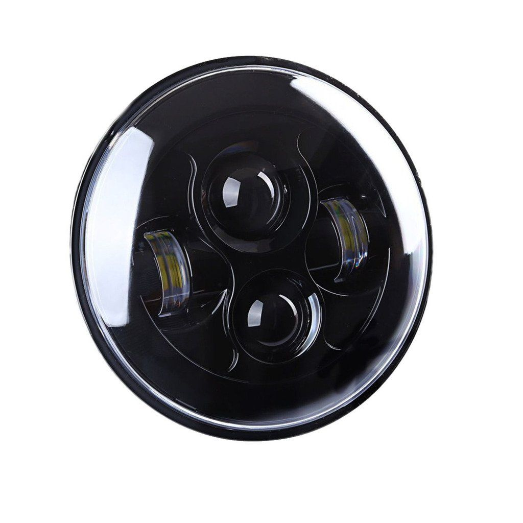 ICars 7 Inch Round LED Headlight Conversion Kit DRL Light Assembly