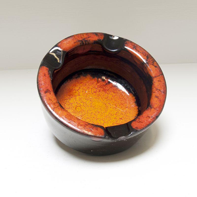 Asbak zwart / oranje
