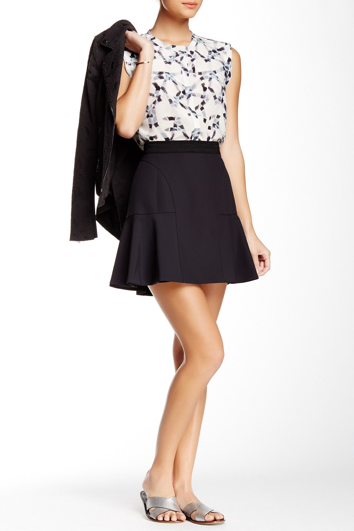 Love this adorable Rebecca Taylor Blouse & Flounce Skirt