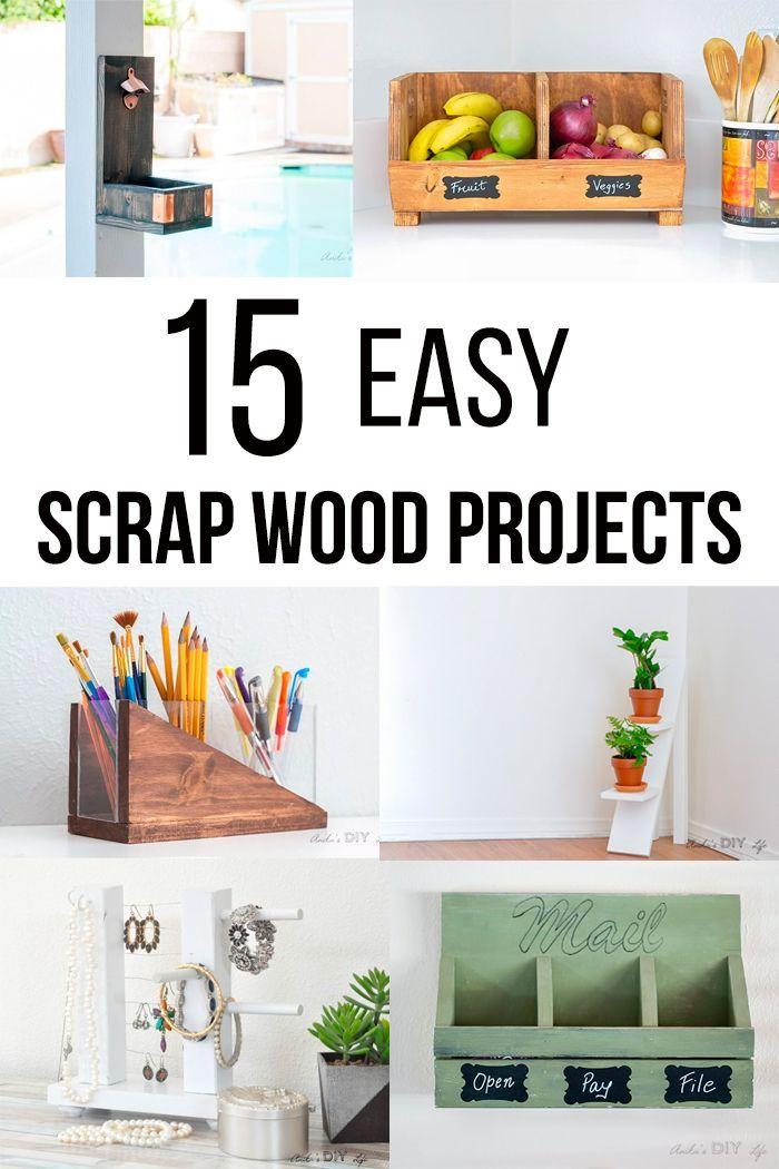 26 Simple Scrap Wood Projects For Beginners Scrap Wood Projects Wood Projects Woodworking Projects Diy