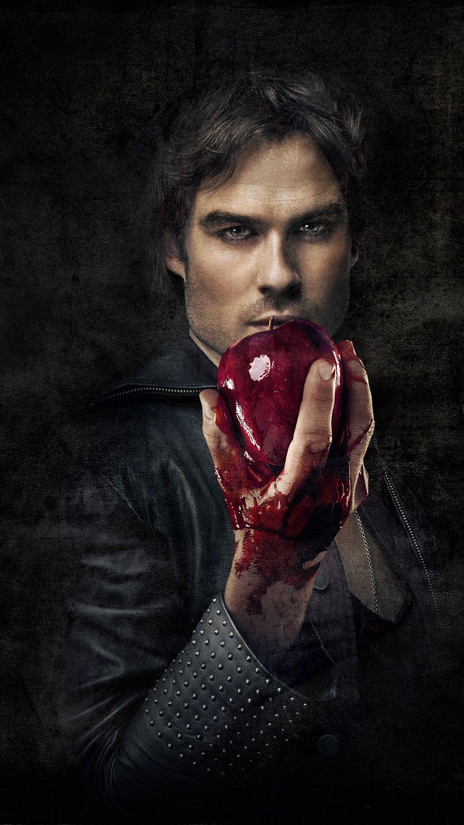 The Vampire Diaries Phone Wallpaper Ian Somerhalder Vampire