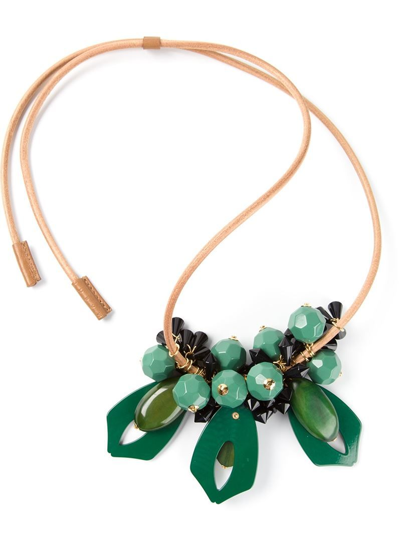 MARNI faceted pendant necklace on Vein - getvein.com