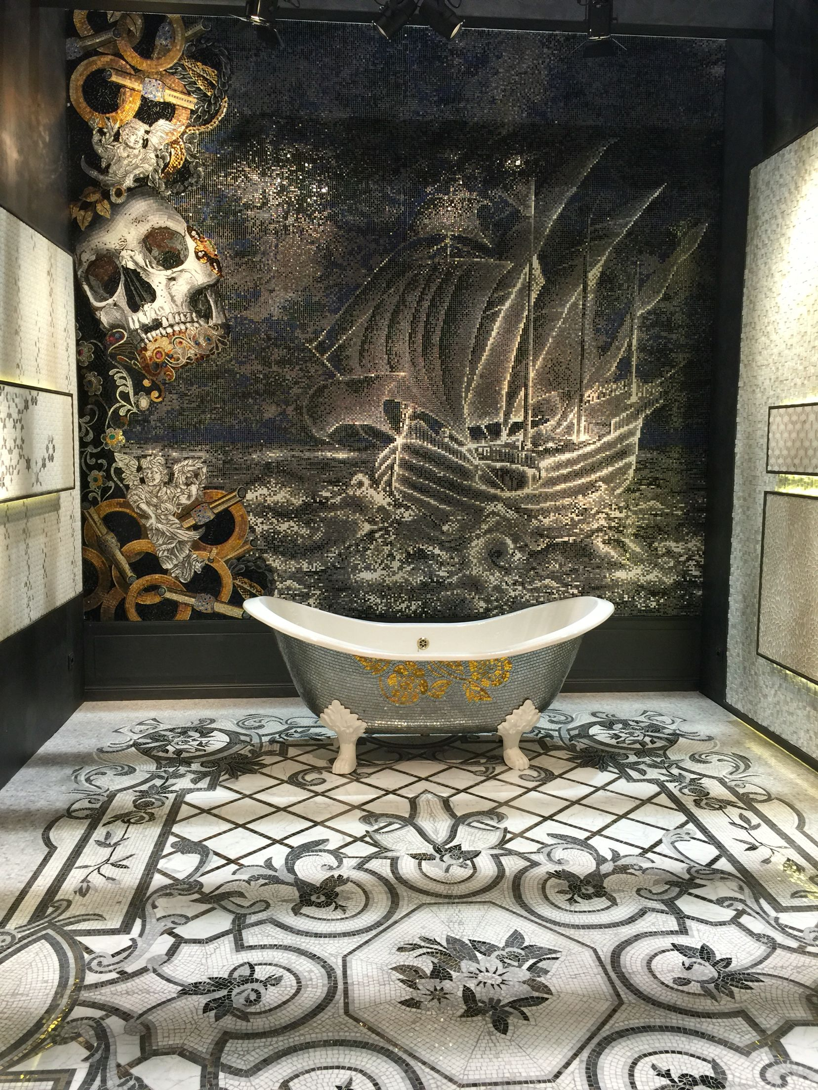 Sicis Outdoes It Again Best In Coverings 2016 Winner Bathroom Mural Mosaic Backsplash Kitchen Mosaic Backsplash