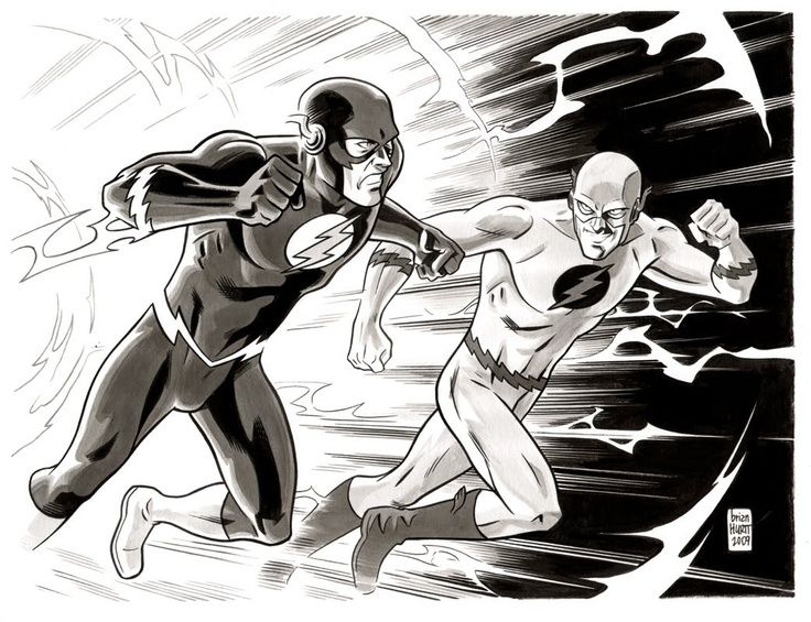 The Flash Vs Professor Zoom By Brian Hurtt