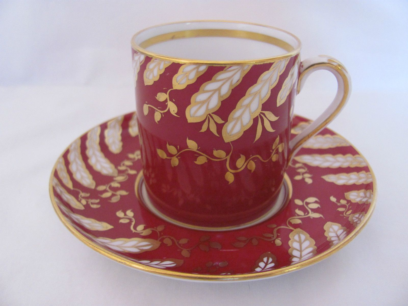 Copeland Grosvenor China Demitasse Cup and Saucer Set Made October 1939