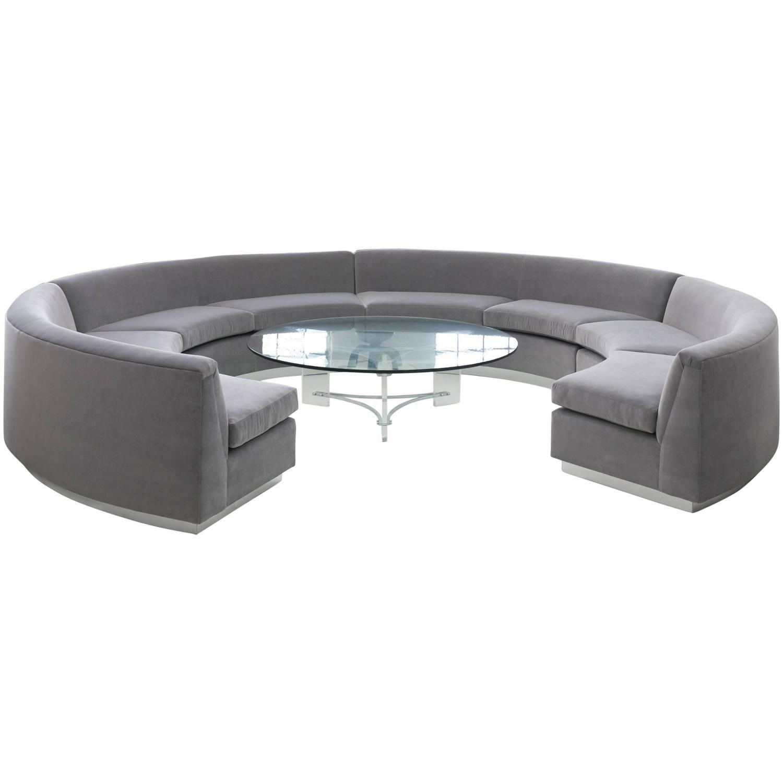 Milo Baughman Circular Sofa