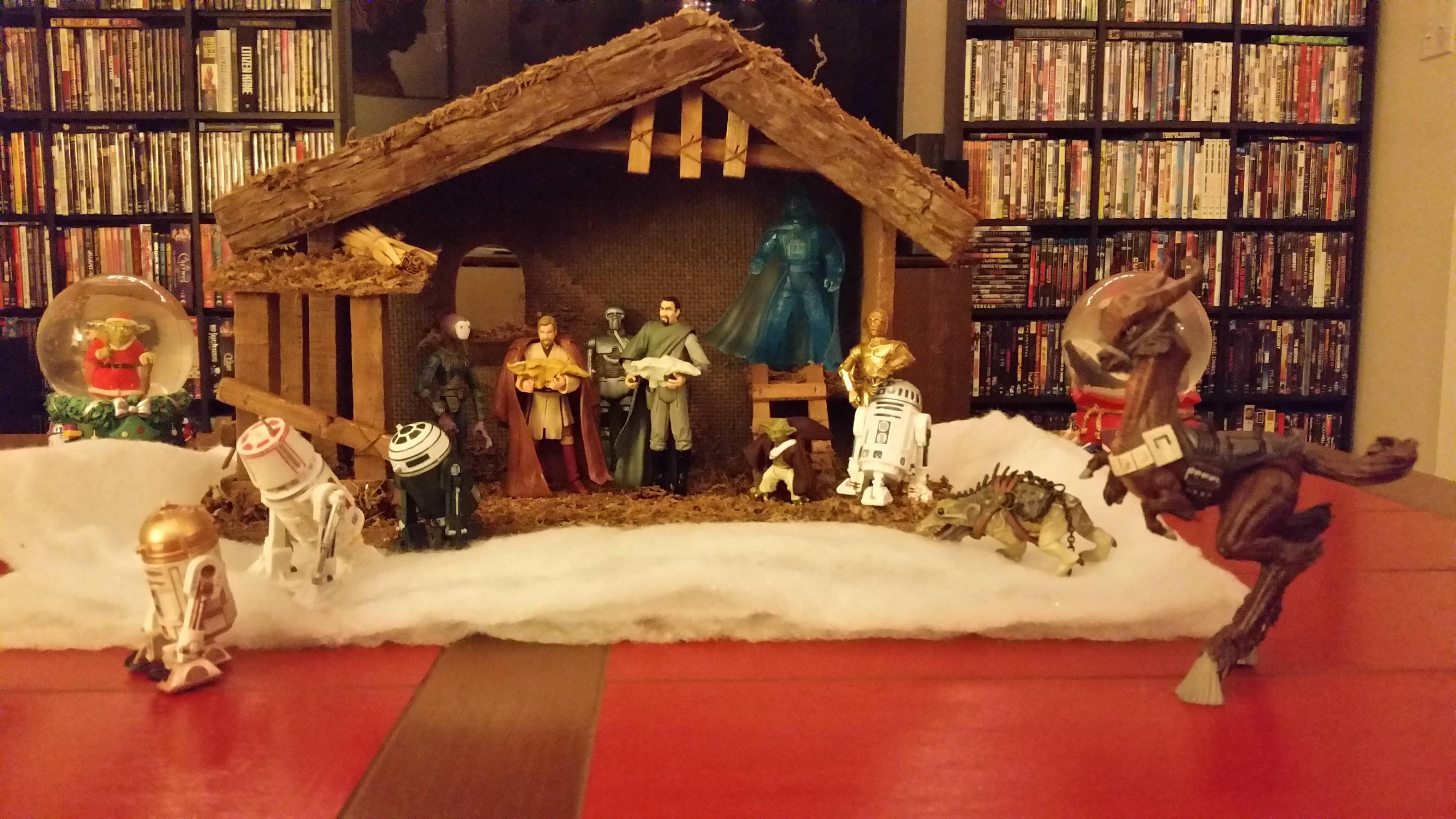 Star Wars Nativity Christmas Nerdy christmas, Christmas