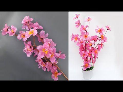 Diy Membuat Bunga Sakura Dari Plastik Kresek How To Make Sakura Flowers From Plastic Shop Youtube Ide Kerajinan Bunga Sakura Bunga