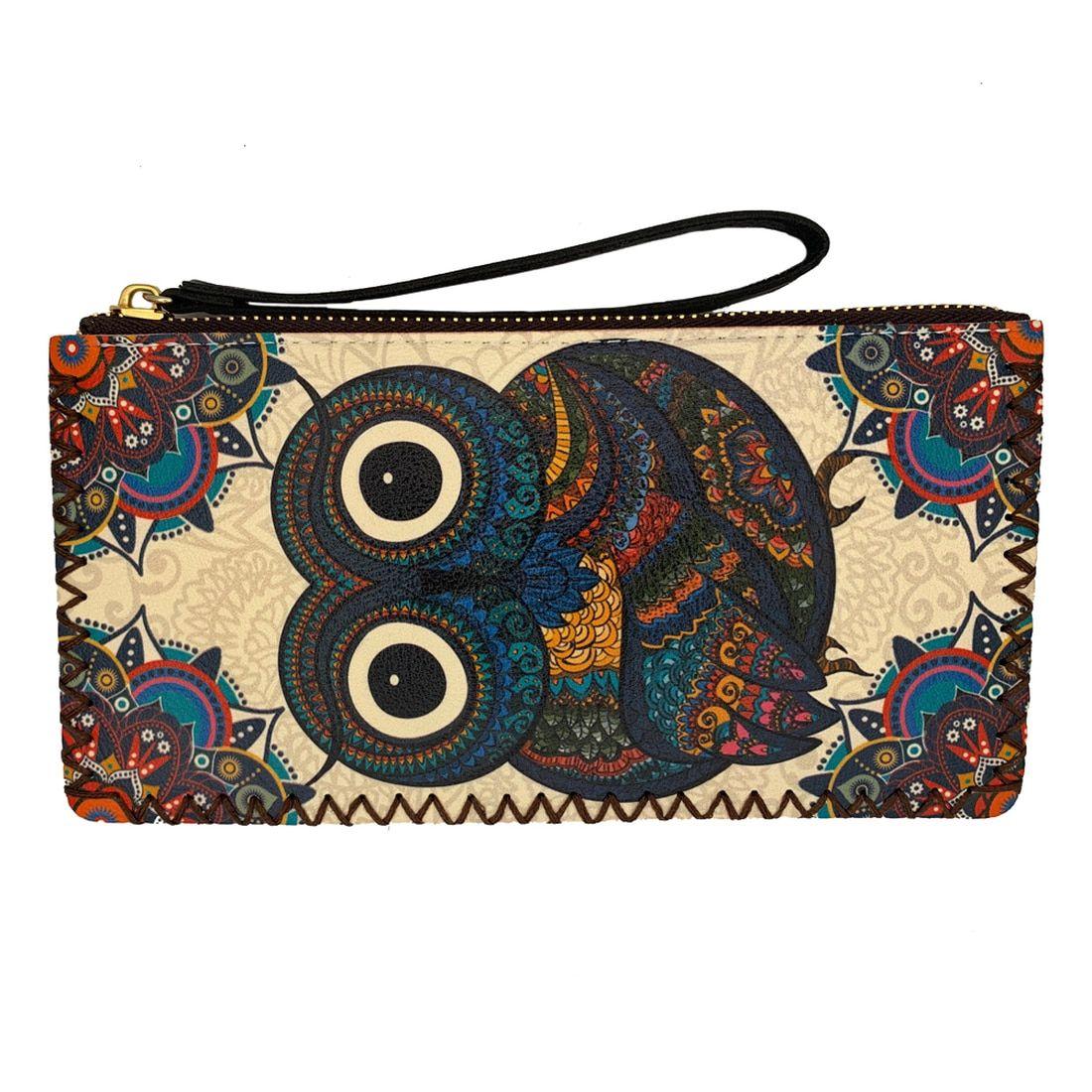 Green Skeletons Red Eyes Coin Pouch Clutch Purse Wristlet Wallet Phone Card Holder Handbag