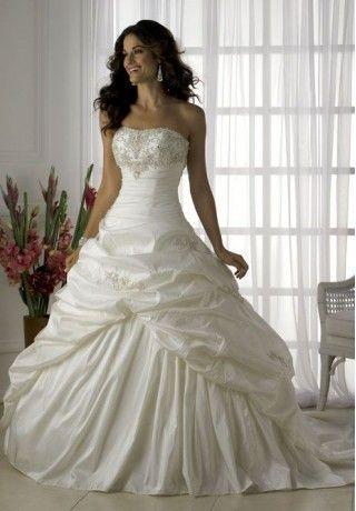 Taffeta Strapless Empire Elegant Wedding Dress Gaudy But I Love