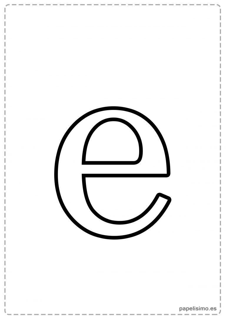 e abecedario letras grandes imprimir minusculas fiesta pinterest