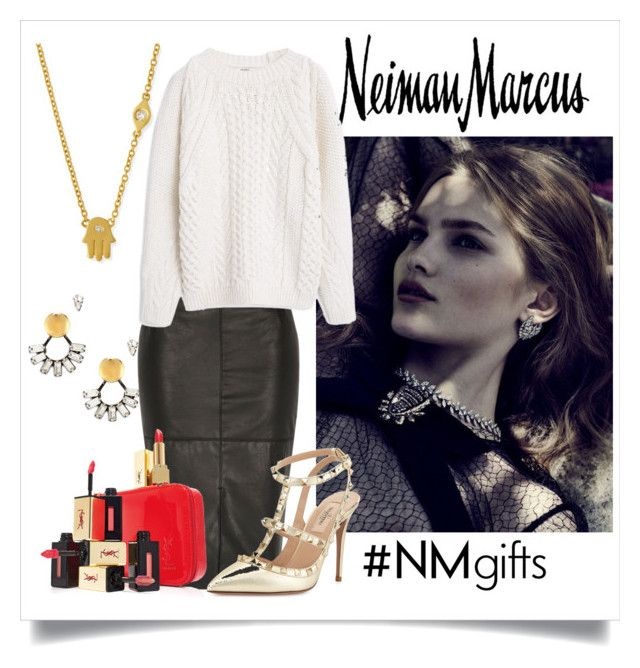 """""""The Holidays Wish List With Neiman Marcus: Contest Entry"""" by sasanme on Polyvore featuring Neiman Marcus, Sydney Evan, DANNIJO, River Island, Valentino, Yves Saint Laurent and MANGO"""