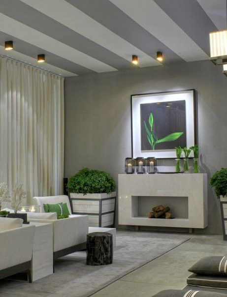 Streifen an der Decke wohnzimmer grau | home - wohnen | Pinterest ...