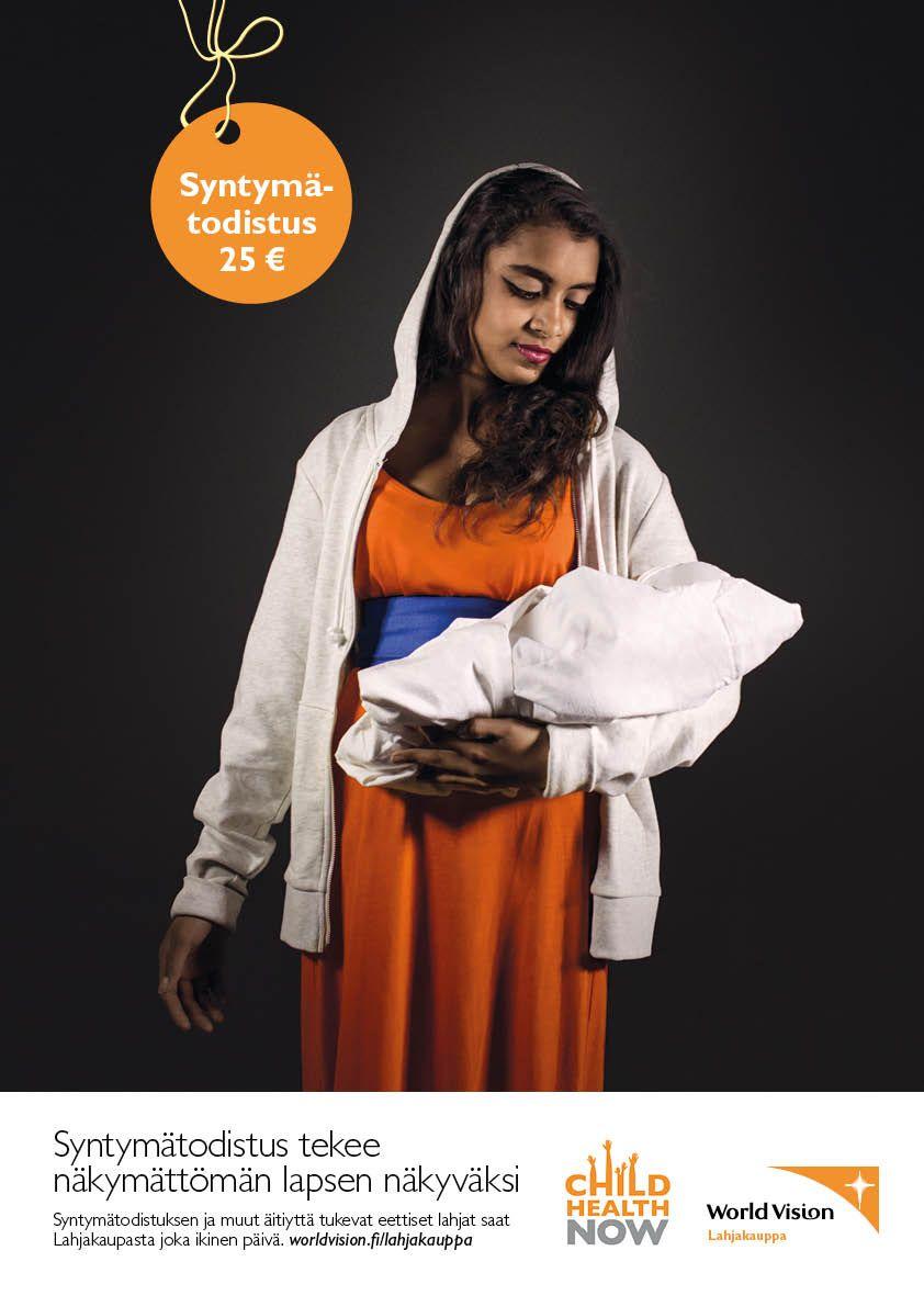 Syntymätodistus tekee näkymättömän lapsen näkyväksi. / Birth certificate makes unseen child visible.