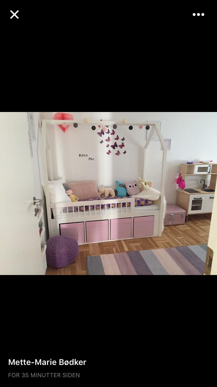 Pige seng med opbevaring IKEA