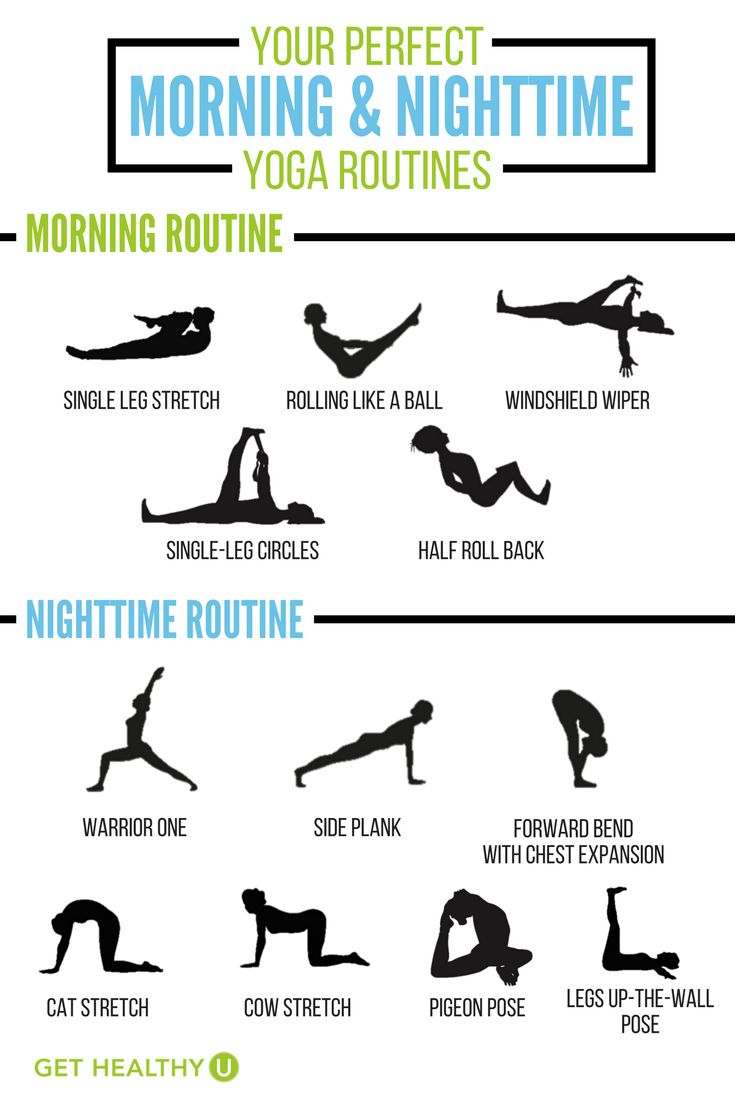 Here Are Your Daily 10 Minute Yoga Routines For Both Morning And Nighttime These Workouts Will Help Improve Posture Flexibility Balance
