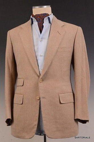 CHEO Custom Bespoke Beige Wool Tweed Jacket Sport Coat EU 48 50 US ...