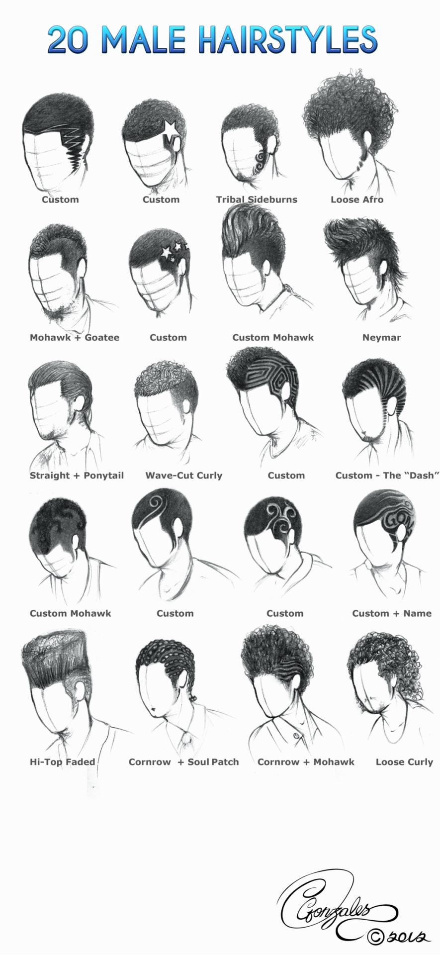 helpyoudraw: 50 male hairstyles - revamped by orangenuke 20 male