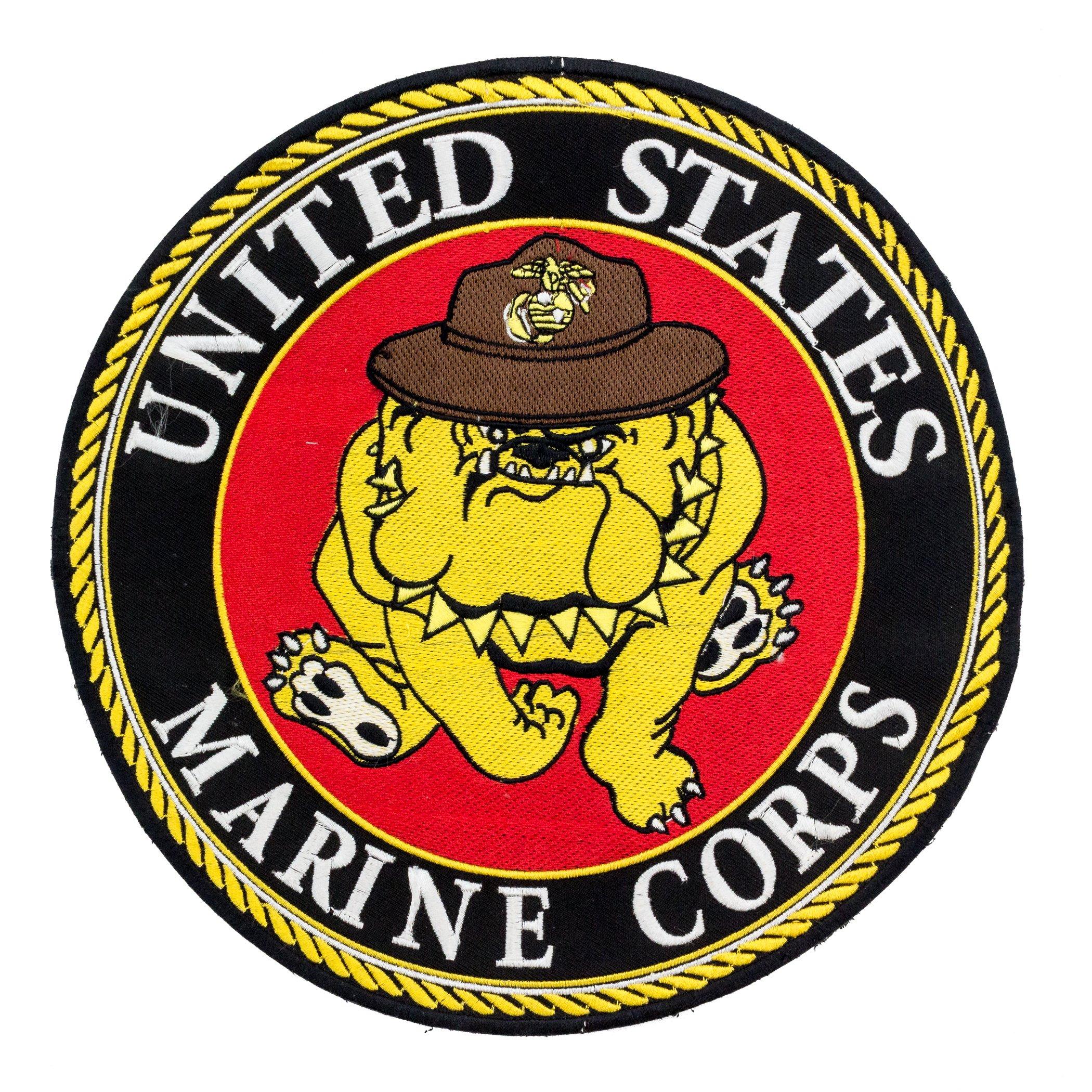 United States Marine Corps Bull Dog In Hat Center Patch For Vest Jacket Marine Corps United States Marine Corps United States Marine